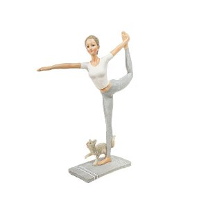 Escultura de Resina  - Mulher/Yoga