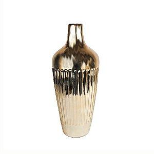 Vaso de Cerâmica - Metalizado/ Dourado