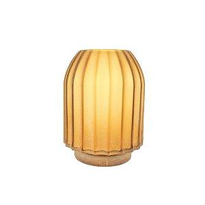 Vaso de Vidro - Amarelo/Redondo