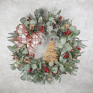 Guirlanda de Natal - Eucalipto/Canela