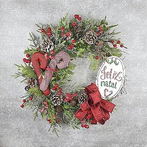 Guirlanda de Natal - Feliz Natal/Bengalas