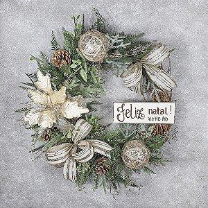 Guirlanda de Natal - Feliz Natal/HOHOHO