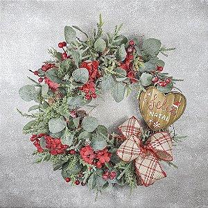 Guirlanda de Natal - Feliz Natal/Vermelha