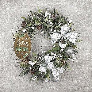 Guirlanda de Natal - Feliz Natal/Prata