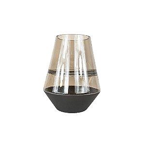 Vaso de Vidro - Preto/Fosco