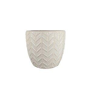 Vaso de Cerâmica - Branco/Maior