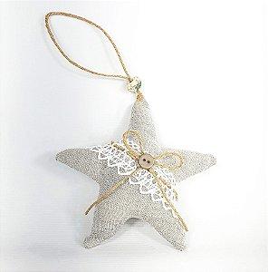 Estrela Decorativa - Linho/Lisa