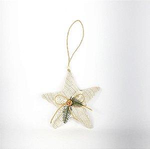 Estrela Decorativa - Linho/Listrada