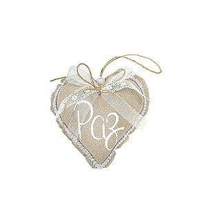 Coração Decorativo - Poá/Paz