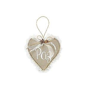 Coração Decorativa - Poá + Renda/Paz