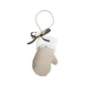 Luvinha Decorativa - Tecido/Cinza