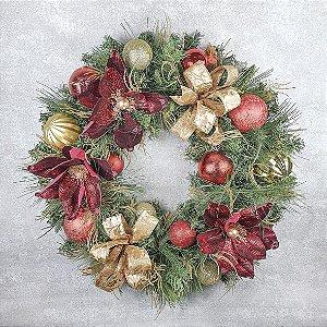 Guirlanda de Natal - Festão/ Marsala e Dourado