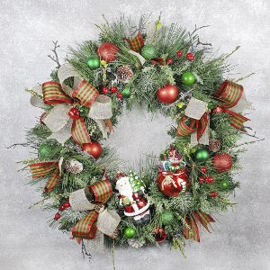 Guirlanda de Natal - Festão/Papai Noel