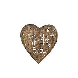 Coração de Madeira em Anelina - Let  It Snow - Coleção Snow