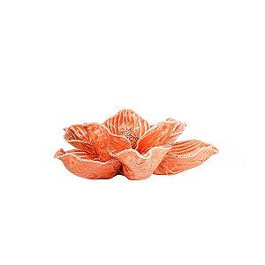 Flor de Cerâmica Decorativa - Salmão
