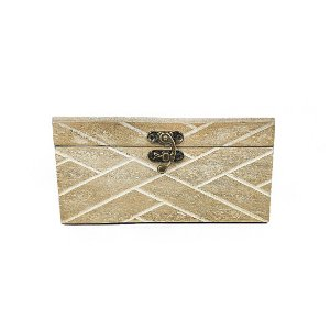 Caixa de Madeira Decorativa - Menor/ Rústica