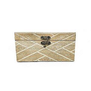 Caixa de Madeira Decorativa - Maior/ Rústica