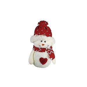 Pingente Boneco de Neve - Vermelho