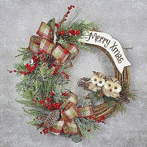 Guirlanda de Natal - Merry Xmas/Corujas