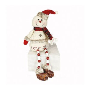Boneco de Neve Sentado - Missangas