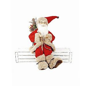 Papai Noel Sentado - Saco de Presentes/Vermelho