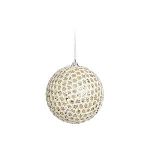 Jogo de Bolas Decorativas - Dourado e Branco