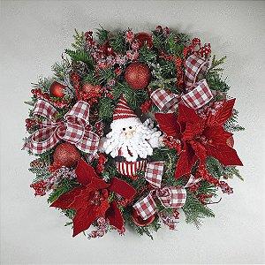 Guirlanda de Festão Natalina - Noel/Vermelha