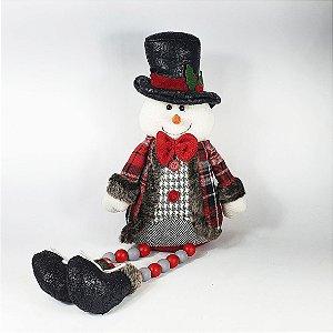 Boneco de Neve Missangas - Xadrez