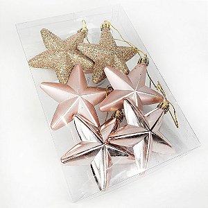 Caixa de Enfeites Natalinos - Estrelas