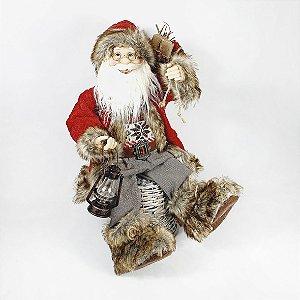 Papai Noel Sentado - Lenhador