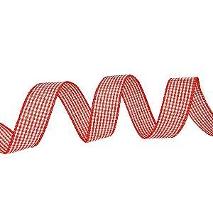 Rolo de Fita Aramada - Quadriculada/Vermelha e Branca