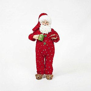 Papai Noel Decorativo - Pijama Vermelho - 27,5cm
