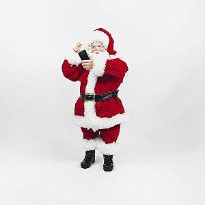 Papai Noel Decorativo - Self - Vermelho/Branco - 27,5cm
