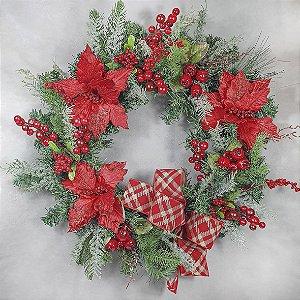 Guirlanda de Natal - Festão/Vermelha - 45cm