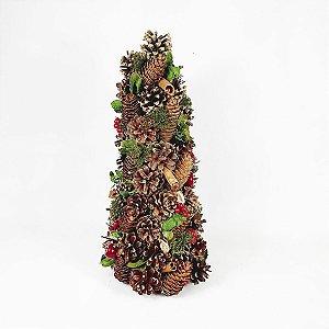 Árvore Berry Decor - Vermelho/Verde - 40cm