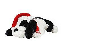 Cachorro Deitado - Dancing c/ Movimento e Som - Branco/Preto - 28cm