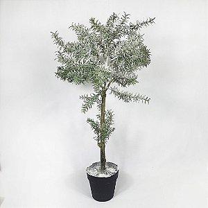 Árvore Alecrim Nevado c/ Glitter c/ Vaso - 76cm