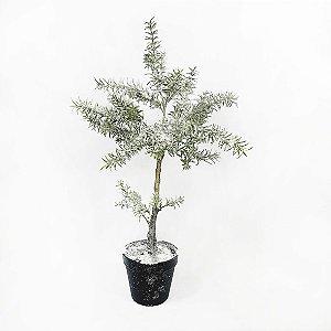 Árvore Alecrim Nevado c/ Glitter c/ Vaso - 61cm