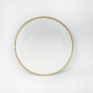 Souplast de Polietileno - Branco/ Borda Dourada