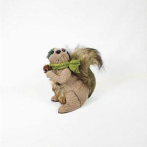 Esquilo Decorativo Cachecol - Pinha