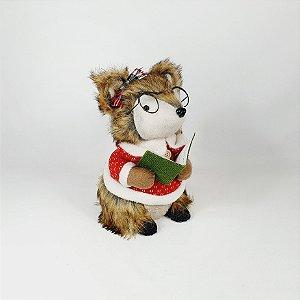 Raposa Decorativa Natalina - Óculos