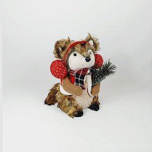 Raposa Decorativa Natalina - Protetor de Ouvido