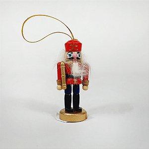 Enfeite Quebra Noz - Vermelho/1 - 7,5cm