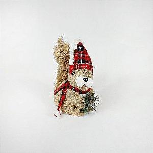 Esquilo Decorativo Touca - Pinha