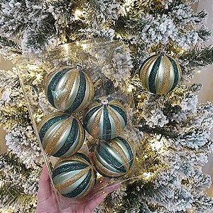Jogo de Bolas Natalinas - Gomos Verde/Dourado