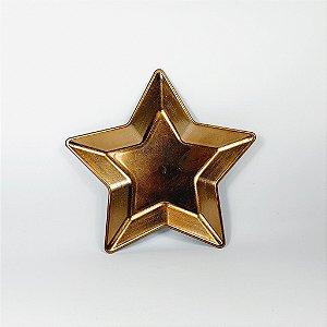 Bandeja Estrela - Dourada - 25,5cm