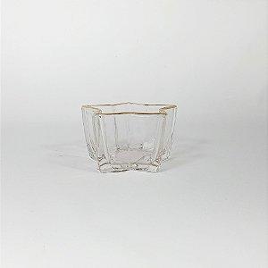 Vaso Decorativo - Estrela - Transparente/Dourado - 10cm