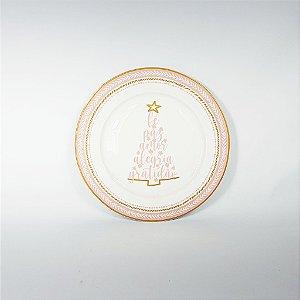Prato Porcelana - Escrita Sentimentos - 26cm