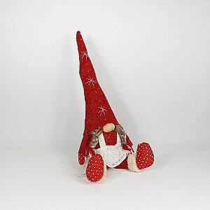 Mamãe Noel Sentado Decor Ruby - 54cm - Vermelho