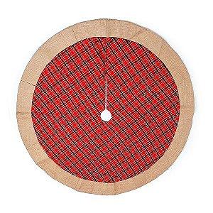 Saia Para Pinheiro - Xadrez Vermelha - 76cm